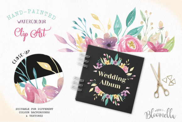 Sweet Shop Frames Floral Watercolor Set Graphic By Bloomella Image 6