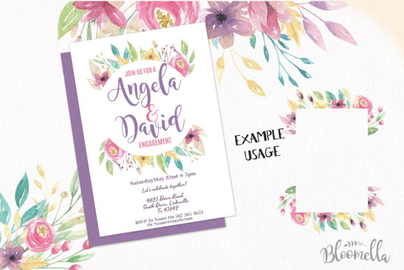 Sweet Shop Frames Floral Watercolor Set Graphic By Bloomella Image 7