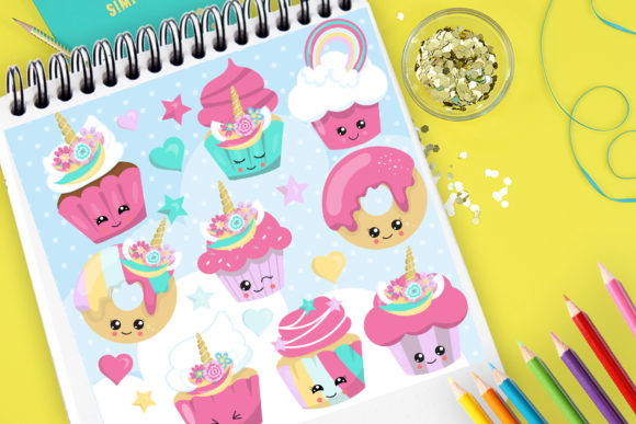 Print on Demand: Sweet Treats Graphic Illustrations By Prettygrafik
