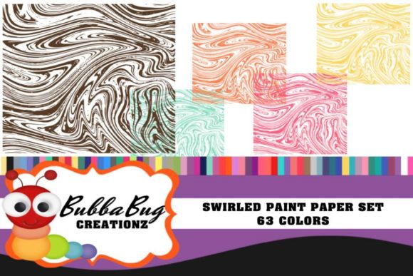 Swirled Paint Paper Set Graphic Backgrounds By BUBBABUG - Image 1
