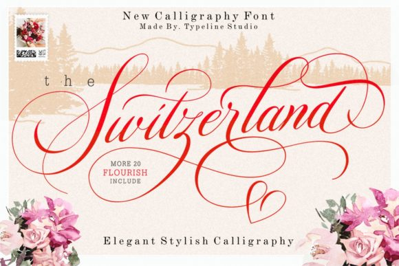 Print on Demand: Switzerland Script & Handwritten Font By typelinestudio