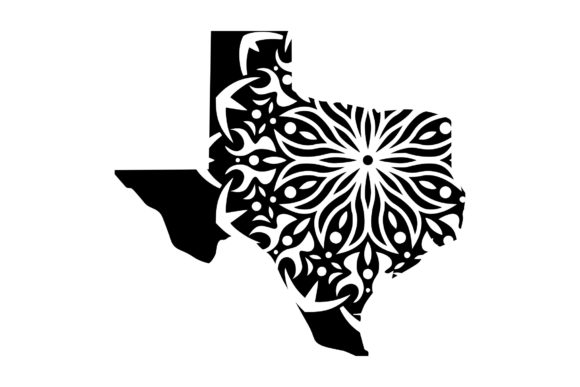 Download Free Tx State Mandala 1 Svg Png Eps Graphic By Studio 26 Design Co for Cricut Explore, Silhouette and other cutting machines.