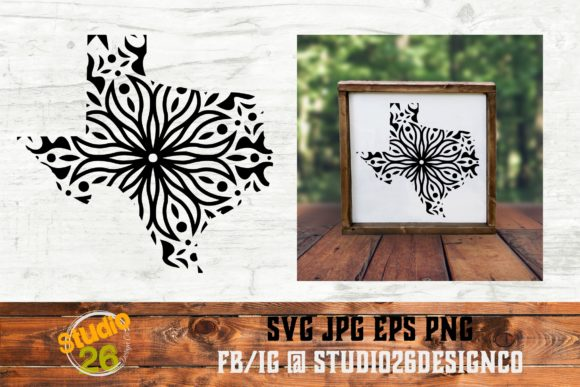 Download Free Tx State Mandala 2 Svg Png Eps Graphic By Studio 26 Design Co for Cricut Explore, Silhouette and other cutting machines.