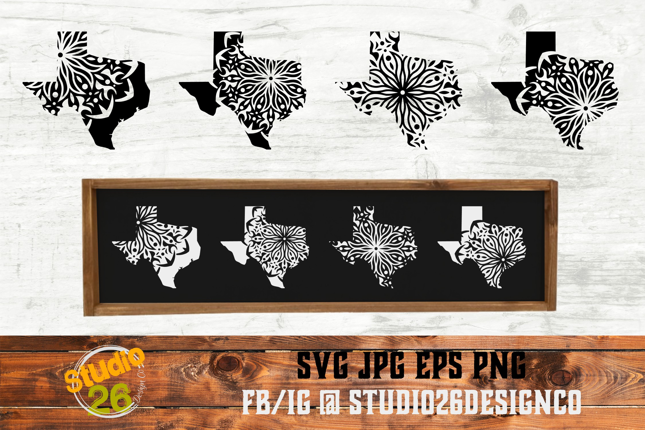 Download Free Tx State Mandala Bundle Svg Png Eps Graphic By Studio 26 for Cricut Explore, Silhouette and other cutting machines.