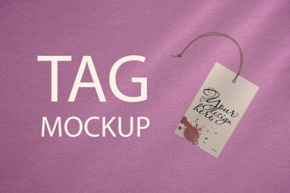 Print on Demand: Tag Mockup, Thank You Tag, PSD Template Graphic Product Mockups By Natalia Arkusha