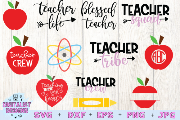 Download Free Teacher Bundle Graphic By Digitalistdesigns Creative Fabrica for Cricut Explore, Silhouette and other cutting machines.