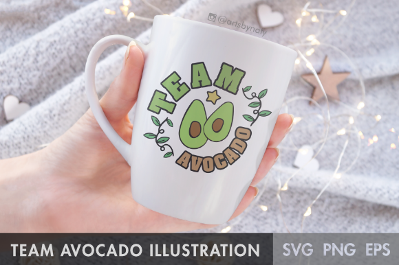 Download Free Team Avocado Svg Illustration Graphic By Artsbynaty Creative for Cricut Explore, Silhouette and other cutting machines.