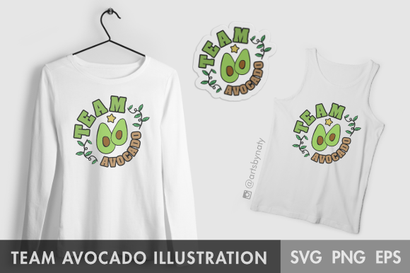 Print on Demand: Team Avocado SVG Illustration Graphic Illustrations By artsbynaty