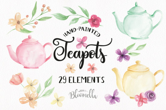 Download Free Watercolour Flower 8 Frames Clipart Graphic By Bloomella for Cricut Explore, Silhouette and other cutting machines.