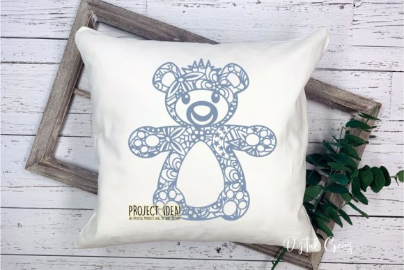 Download Free Teddy Bear Papercut Design Graphic By Digital Gems Creative for Cricut Explore, Silhouette and other cutting machines.