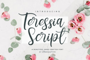 Print on Demand: Teressia Script Script & Handwritten Font By StudioAKTYPE