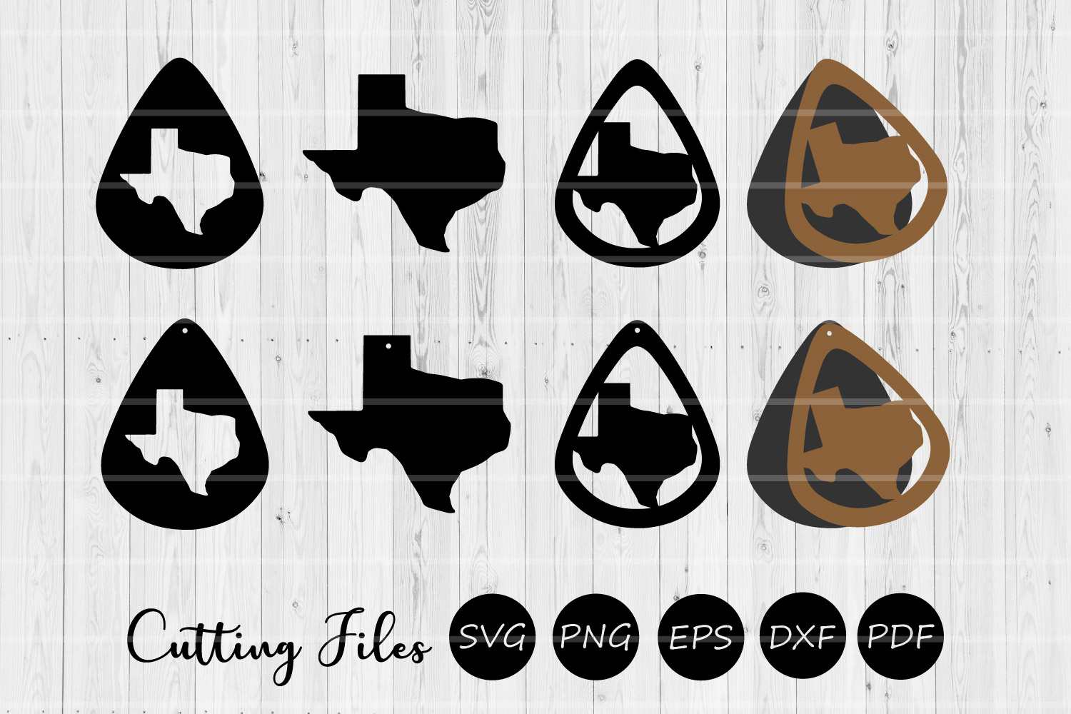 Download Free Texas Teardrop Earrings Svg Graphic By Hd Art Workshop for Cricut Explore, Silhouette and other cutting machines.