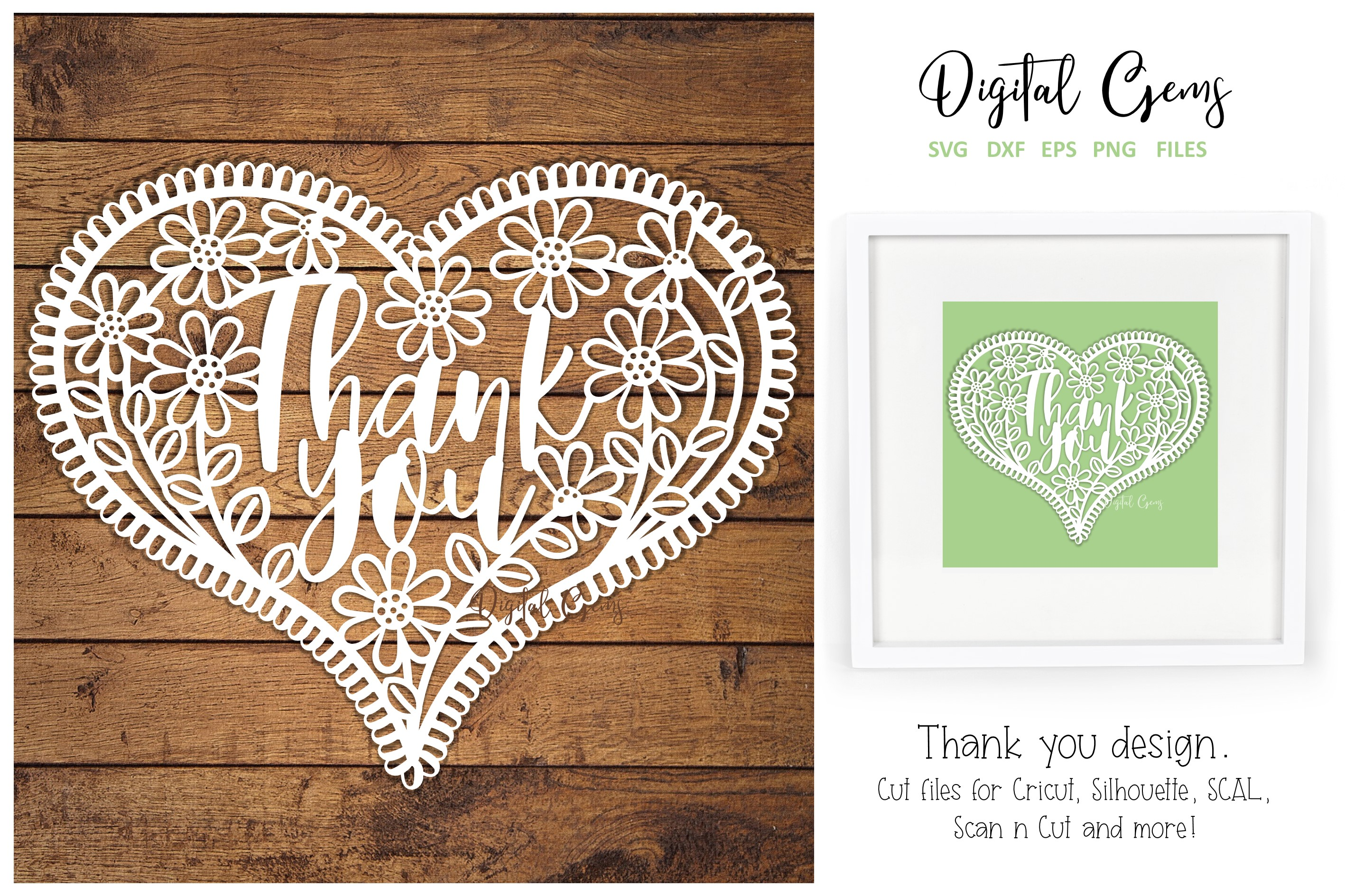 Download Free Thank You Paper Cut Design Graphic By Digital Gems Creative for Cricut Explore, Silhouette and other cutting machines.