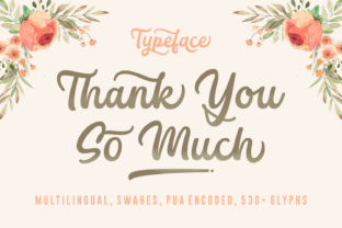 Print on Demand: Thank You so Much Script & Handwritten Font By Situjuh