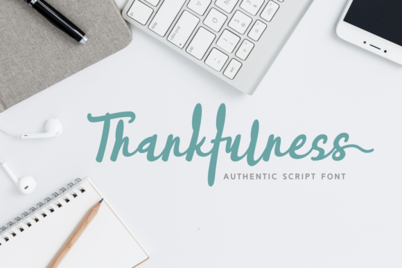 Print on Demand: Thankfulness Script & Handwritten Font By Rifki (7ntypes)