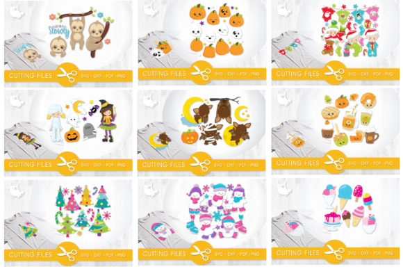 Print on Demand: The Amazing Craft Bundle - 1500 Designs in 1 Pack Graphic Illustrations By Prettygrafik - Image 18