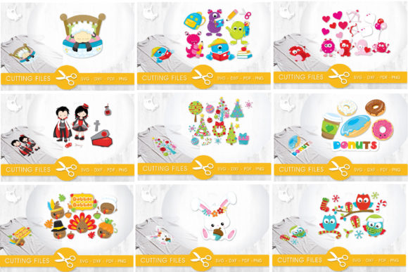Print on Demand: The Amazing Craft Bundle - 1500 Designs in 1 Pack Graphic Illustrations By Prettygrafik - Image 20