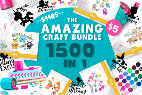 Print on Demand: The Amazing Craft Bundle - 1500 Designs in 1 Pack Graphic Illustrations By Prettygrafik - Image 1