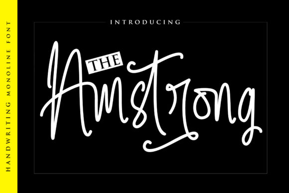 Print on Demand: The Amstrong Script & Handwritten Font By Atjcloth Studio