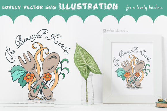 Download Free The Beautiful Kitchen Vector Svg Illustr Graphic By Artsbynaty for Cricut Explore, Silhouette and other cutting machines.