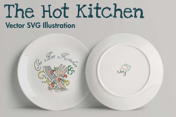 Download Free The Hot Kitchen Svg Illustration Graphic By Artsbynaty for Cricut Explore, Silhouette and other cutting machines.