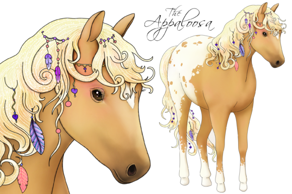 The Love Horse Set Graphic By Jen Digital Art Image 2