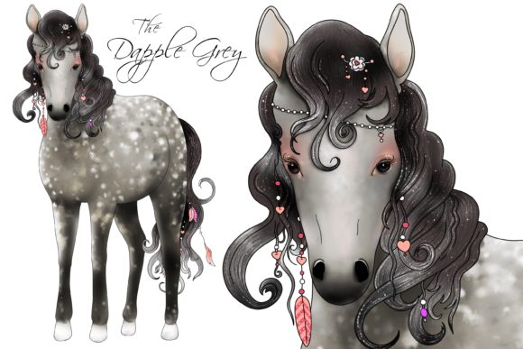 The Love Horse Set Graphic By Jen Digital Art Image 3