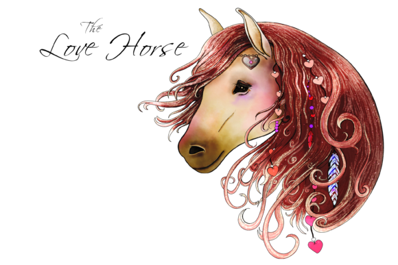 The Love Horse Set Graphic By Jen Digital Art Image 4