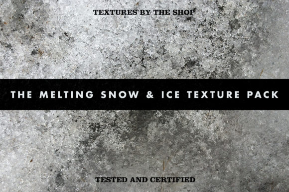 The Melting Snow & Ice Texture Pack Graphic Textures By theshopdesignstudio - Image 1