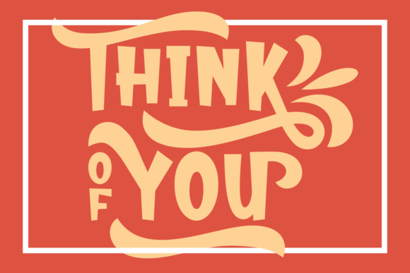 Print on Demand: Think of You Display Font By Rifki (7ntypes)