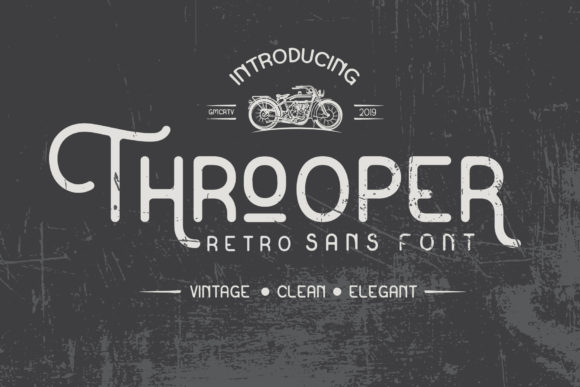 Print on Demand: Throoper Sans Serif Font By gumacreative