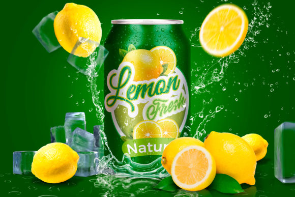 Tin Can Lemon Mockup