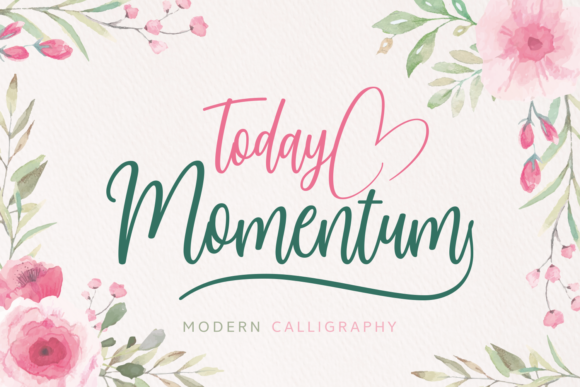 Print on Demand: Today Momentum Script & Handwritten Font By Situjuh