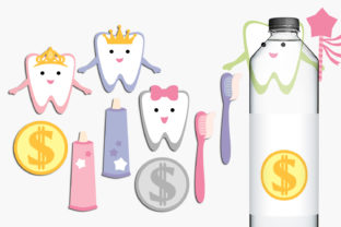 Tooth Fairy and Coins Graphic By Revidevi