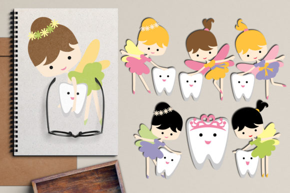 Print on Demand: Tooth Fairy Graphic Illustrations By Revidevi