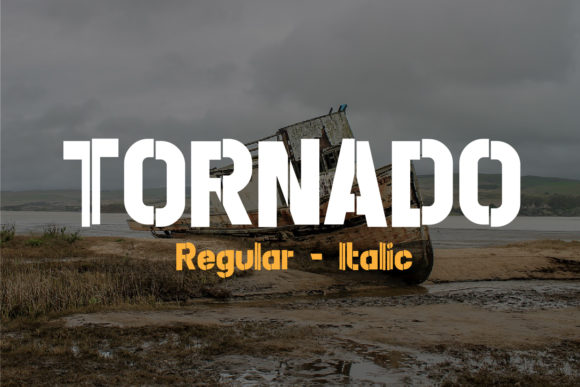 Print on Demand: Tornado Decorative Font By da_only_aan - Image 1