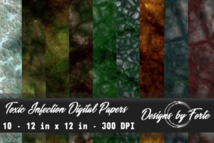 Toxic Infection Digital Papers Graphic By Heidi Vargas-Smith