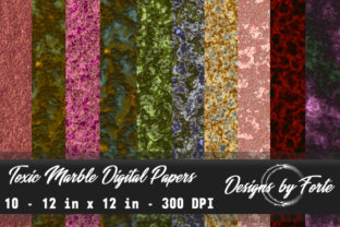 Toxic Marble Digital Papers Graphic By Heidi Vargas-Smith