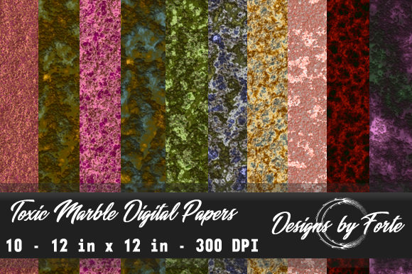 Print on Demand: Toxic Marble Digital Papers Graphic Textures By Heidi Vargas-Smith