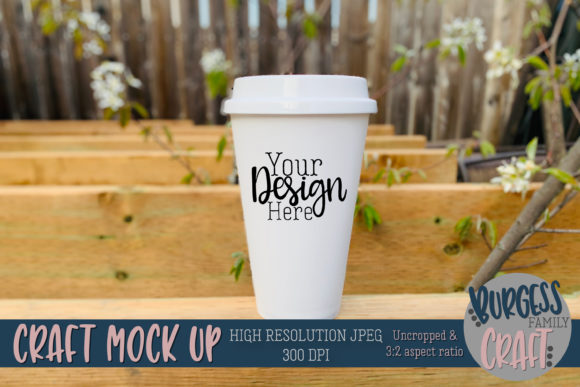Travel Mug Outdoor Craft Mock Up JPG Graphic Product Mockups By burgessfamilycraft