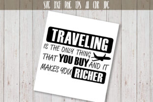 Traveling SVG Adventure Quote Graphic By Vector City Skyline