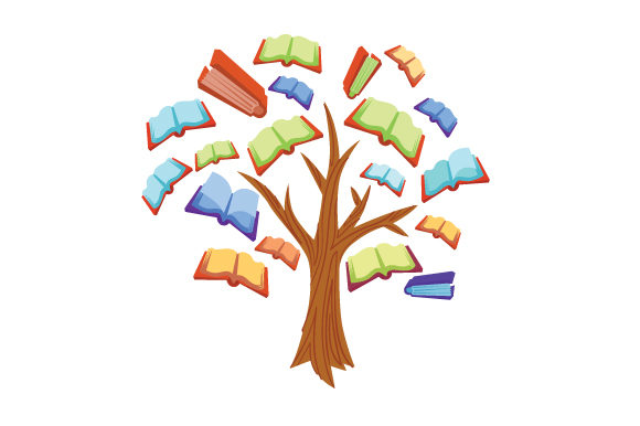 Download Free Tree With Books As Leaves Svg Cut File By Creative Fabrica for Cricut Explore, Silhouette and other cutting machines.