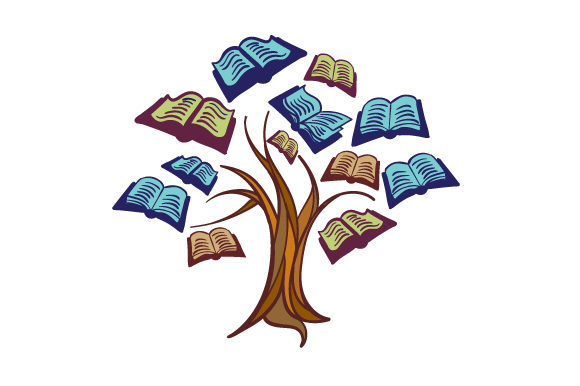 Tree With Books As Leaves Svg Cut File By Creative Fabrica
