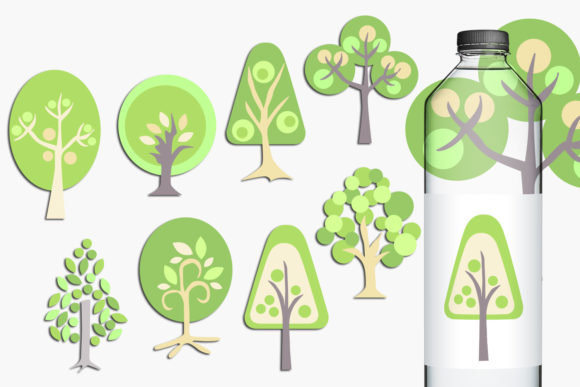 Print on Demand: Trees Graphic Illustrations By Revidevi