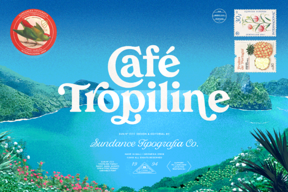Print on Demand: Tropiline Family Display Font By Studio Sun