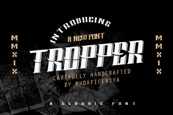 Print on Demand: Tropper Display Font By Muhammad Ersya