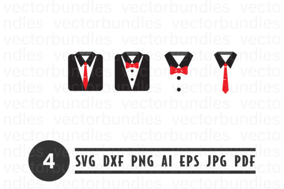 Tuxedo Suit Clip Art Svg Graphic By Vectorbundles Creative Fabrica