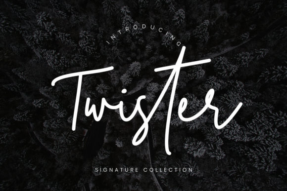 Print on Demand: Twister Script Script & Handwritten Font By CreatypeStudio