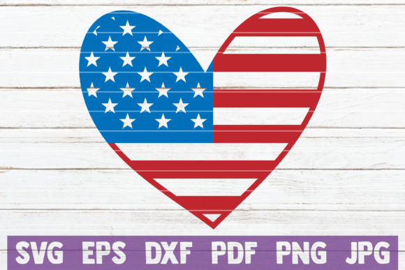 USA Heart SVG Cut File Graphic Graphic Templates By MintyMarshmallows