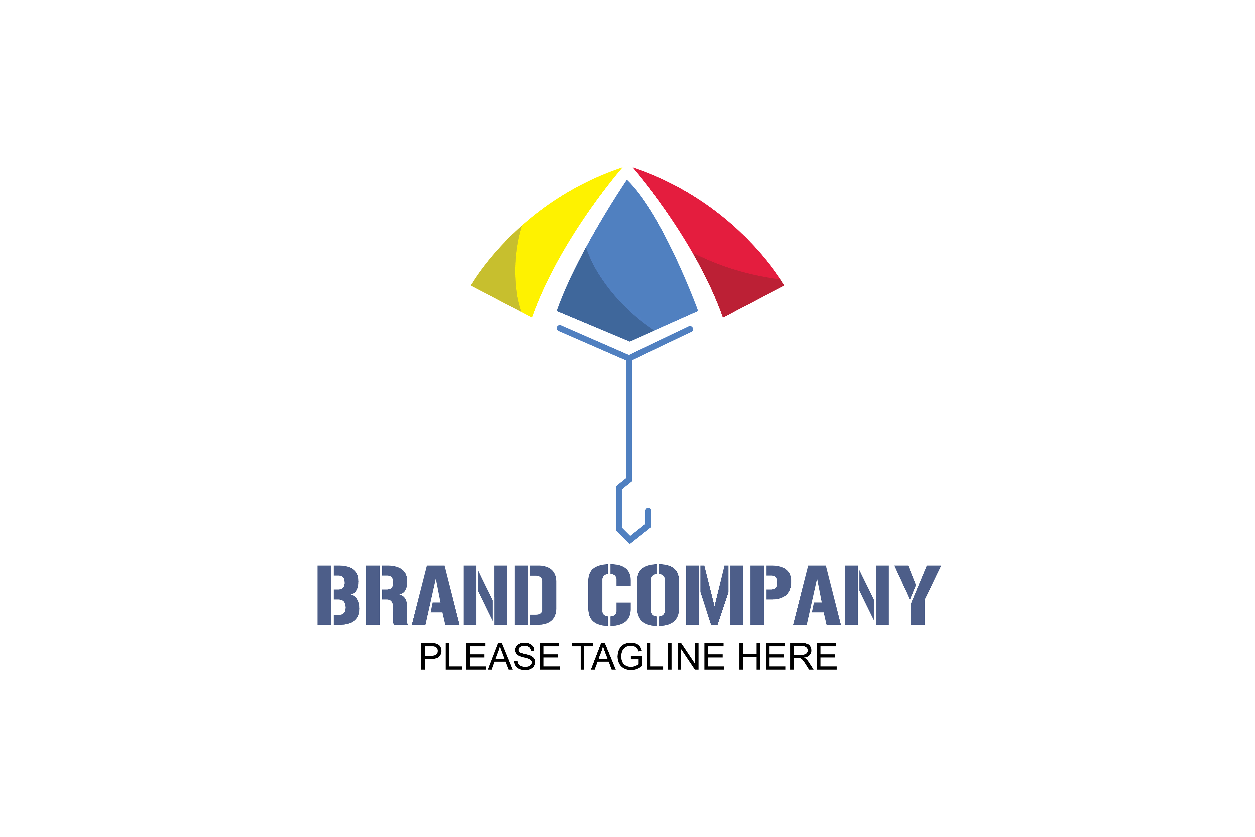 Download Free Yellow Blue And Red Umbrella Logo Graphic By Friendesigns for Cricut Explore, Silhouette and other cutting machines.